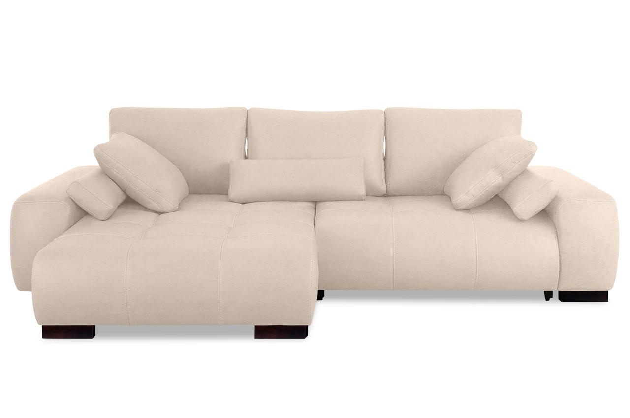 ecksofa davis mit schlaffunktion creme mit boxspring sofas zum halben preis. Black Bedroom Furniture Sets. Home Design Ideas