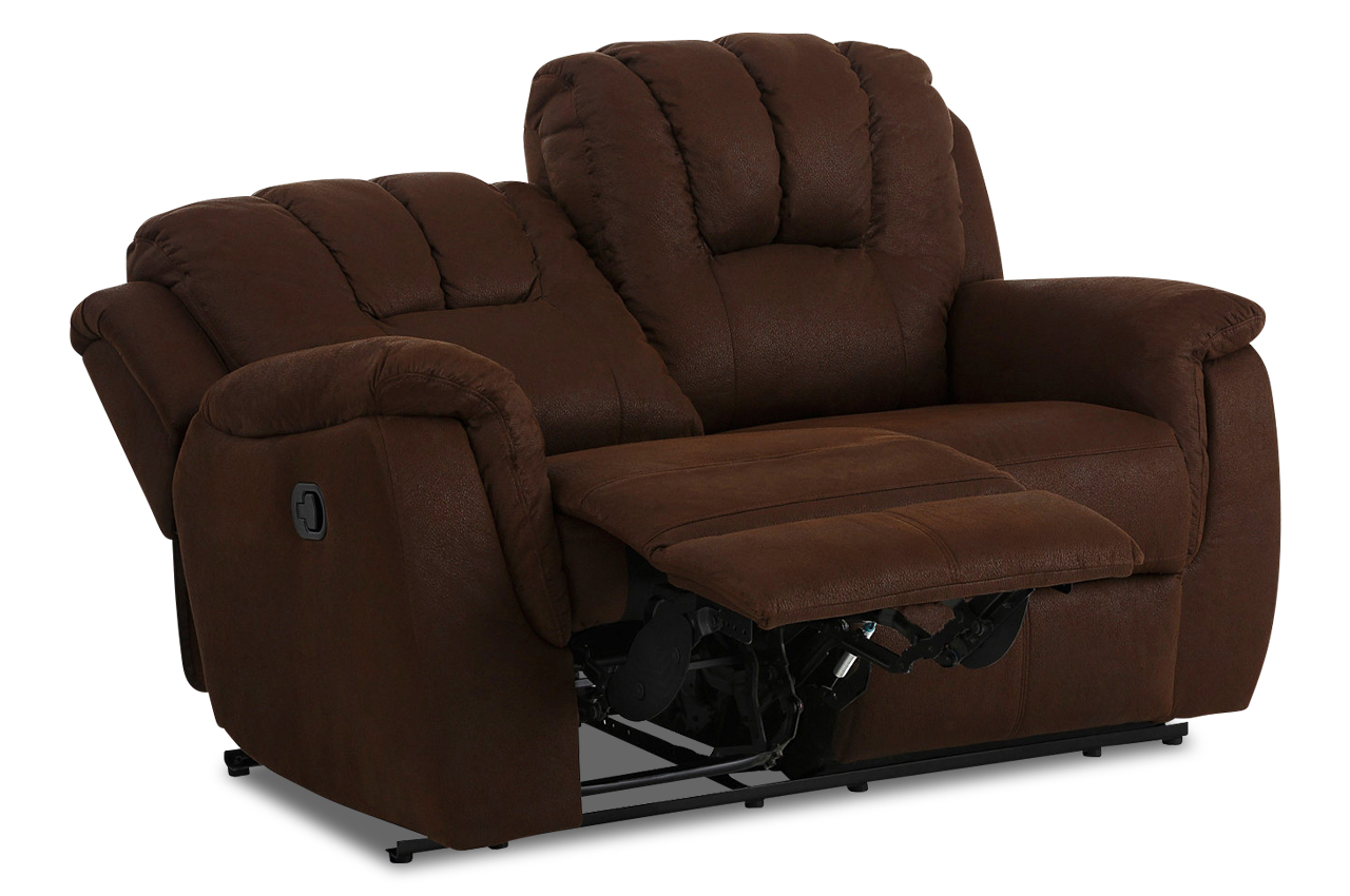 atlantic collection 2er sofa markus mit relax braun mit federkern stoff s ebay. Black Bedroom Furniture Sets. Home Design Ideas