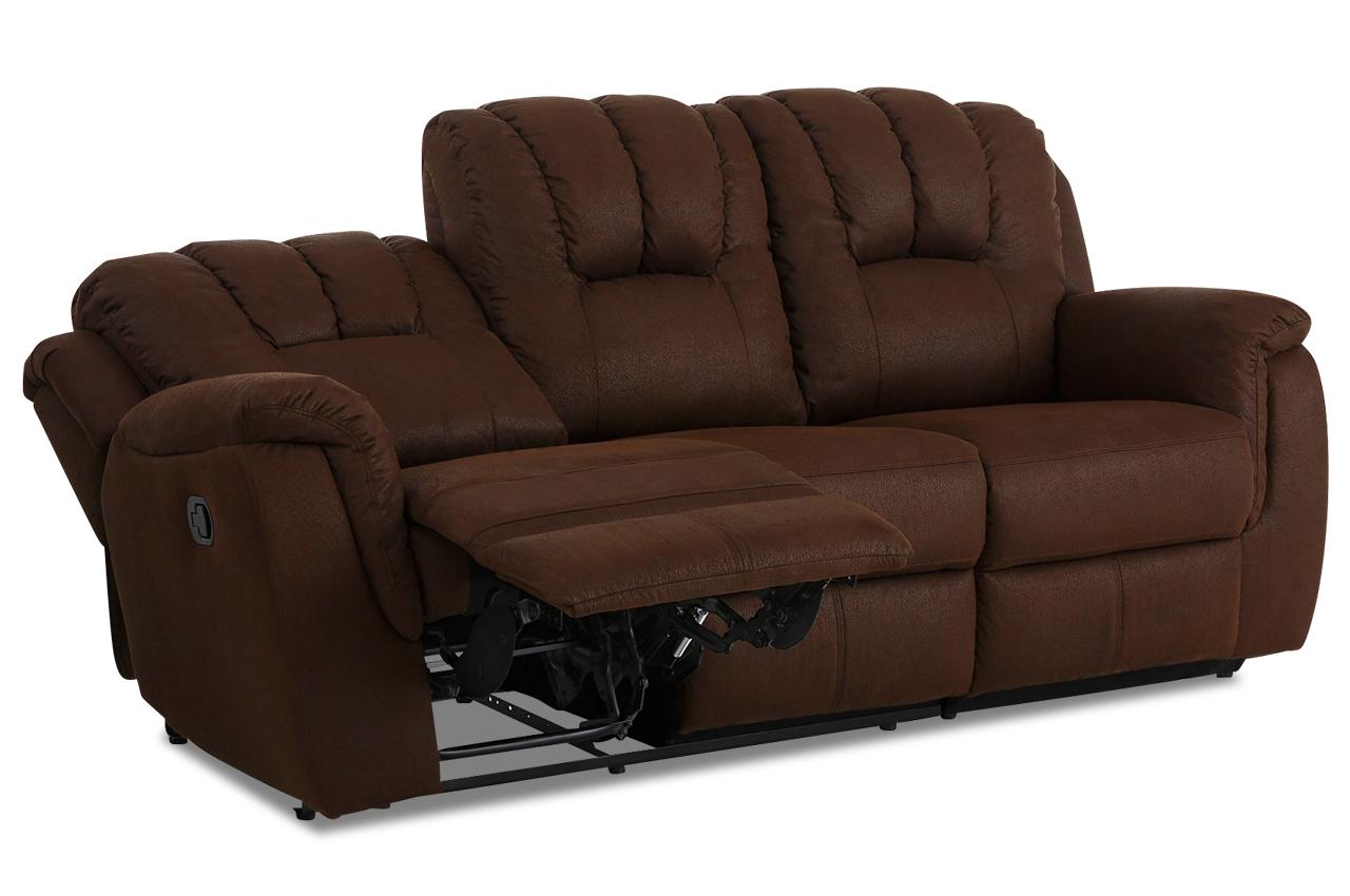 atlantic collection 3er sofa markus mit relax braun mit federkern sofas zum halben preis. Black Bedroom Furniture Sets. Home Design Ideas