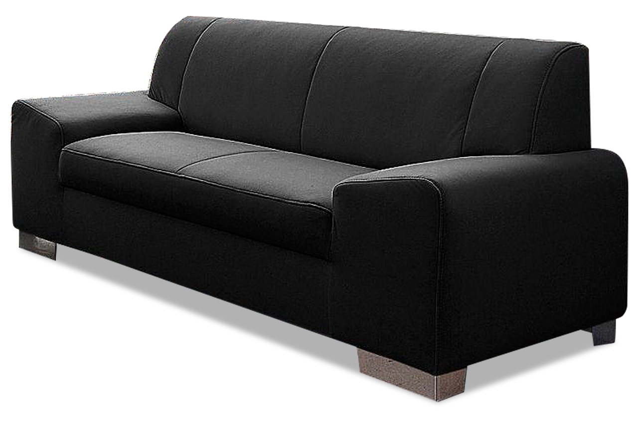 2er sofa alisson schwarz sofas zum halben preis. Black Bedroom Furniture Sets. Home Design Ideas