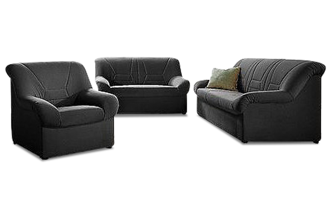 garnitur 3 2 1 neuss schwarz sofas zum halben preis. Black Bedroom Furniture Sets. Home Design Ideas