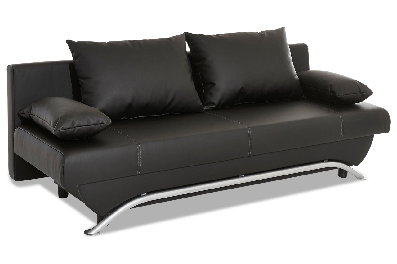 schlafsofa fido mit bett kunstleder sofa couch ecksofa. Black Bedroom Furniture Sets. Home Design Ideas
