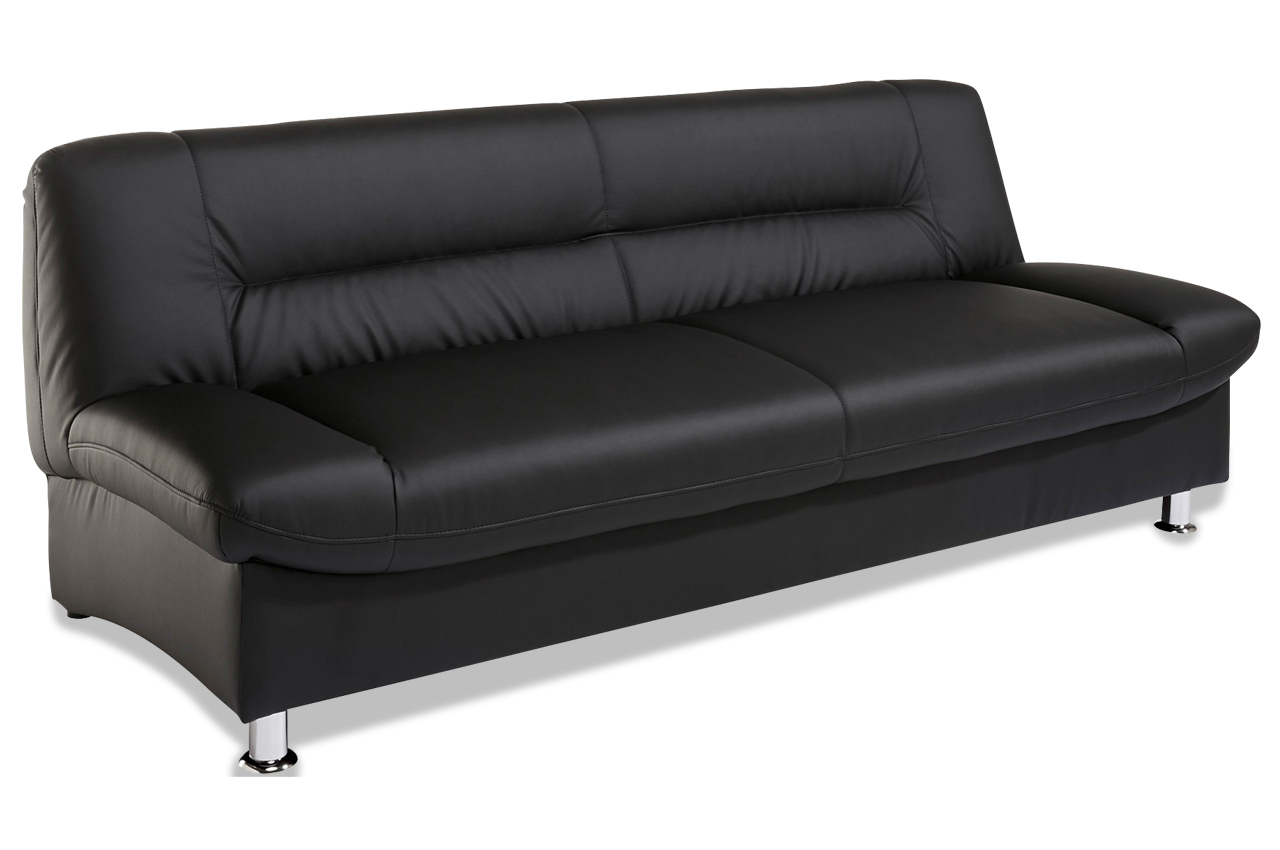 3er sofa mirage schwarz sofas zum halben preis. Black Bedroom Furniture Sets. Home Design Ideas