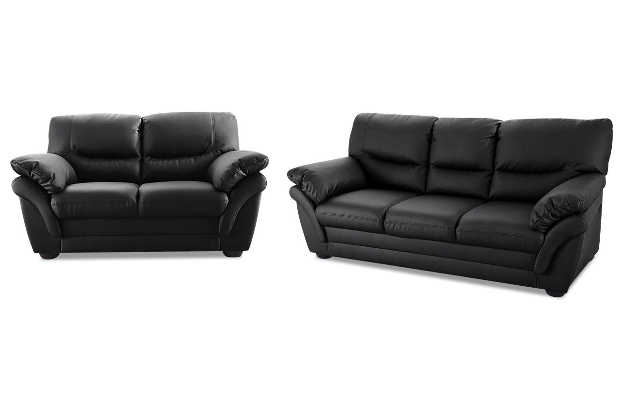 garnitur 3 2 rico schwarz sofas zum halben preis. Black Bedroom Furniture Sets. Home Design Ideas