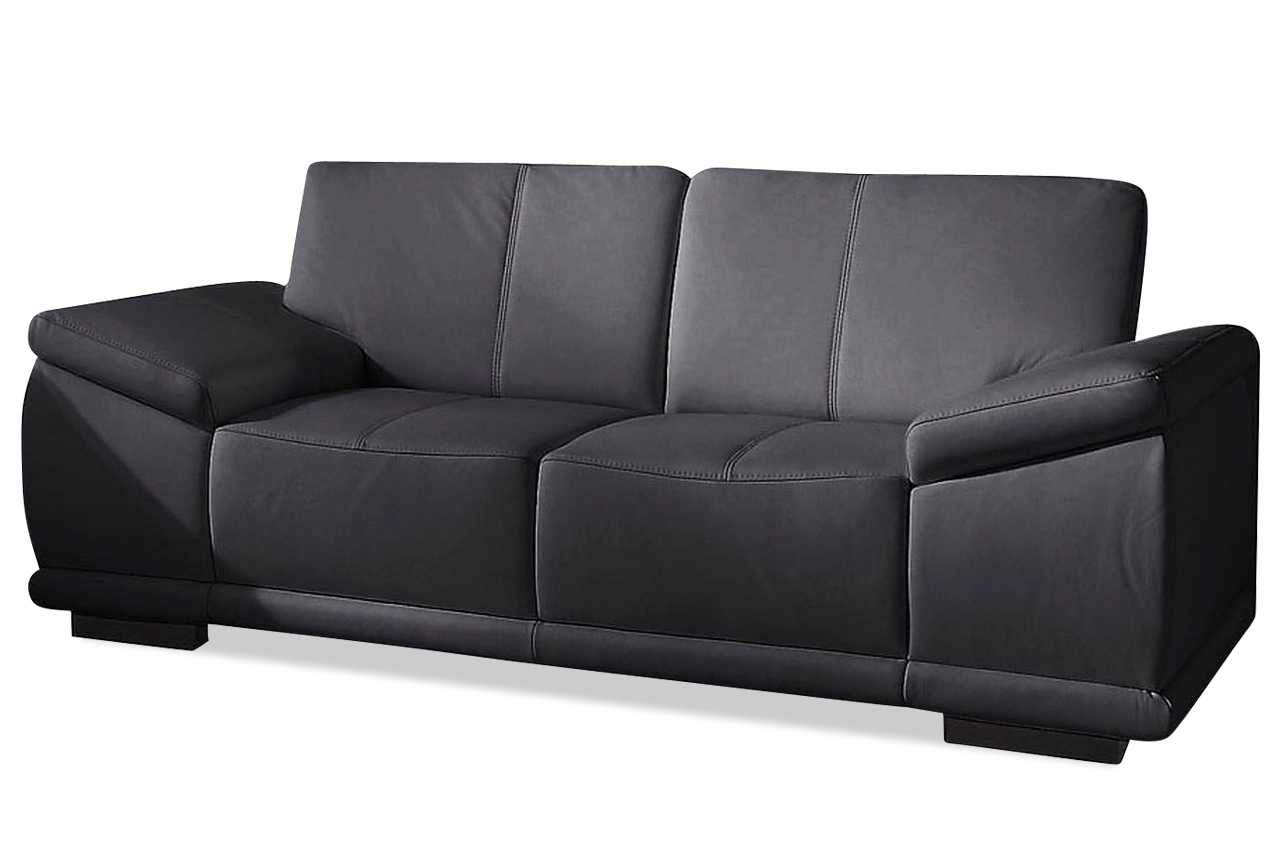 2er sofa schwarz sofas zum halben preis. Black Bedroom Furniture Sets. Home Design Ideas