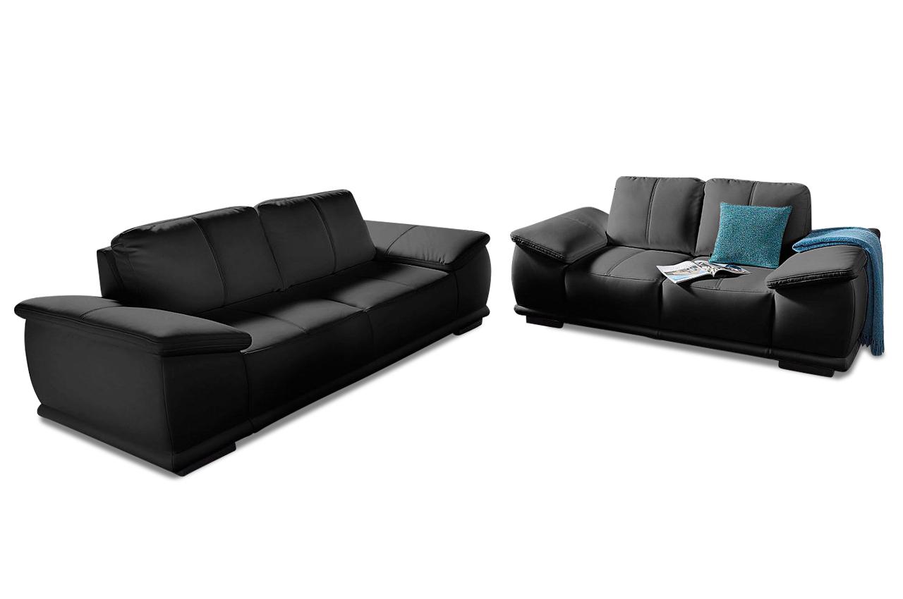 garnitur 3 2 schwarz sofas zum halben preis. Black Bedroom Furniture Sets. Home Design Ideas