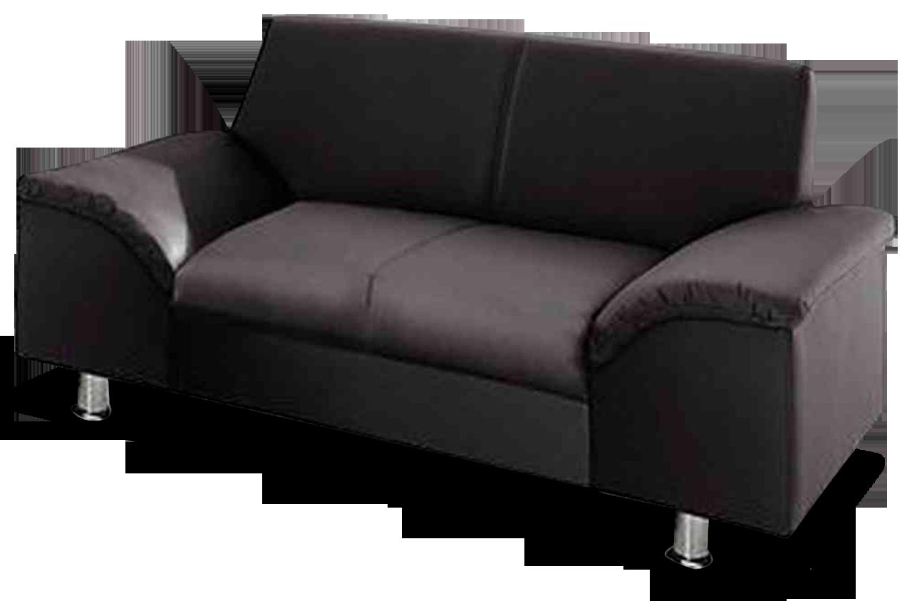 trendmanufaktur 2er sofa lesmona schwarz mit federkern. Black Bedroom Furniture Sets. Home Design Ideas