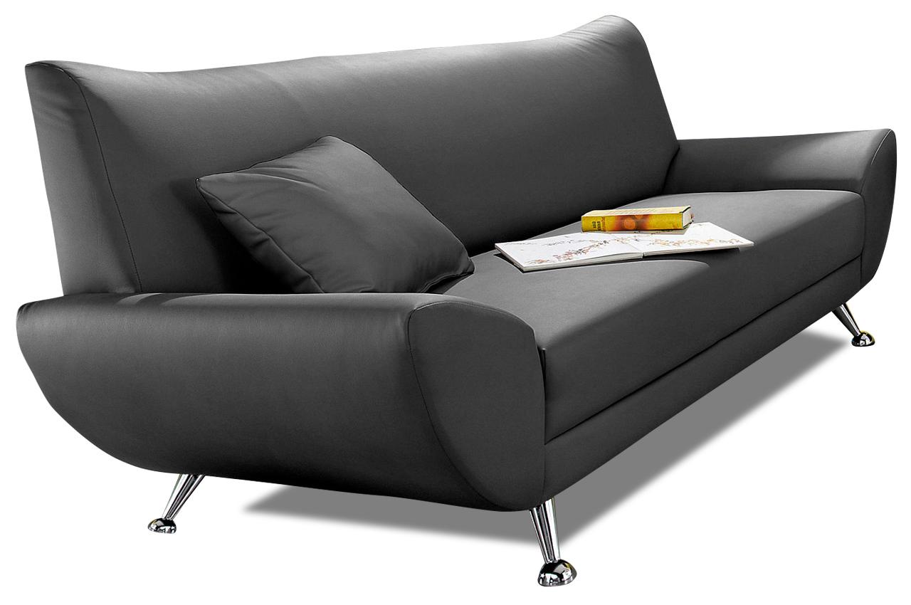 3er sofa saltare schwarz sofas zum halben preis. Black Bedroom Furniture Sets. Home Design Ideas