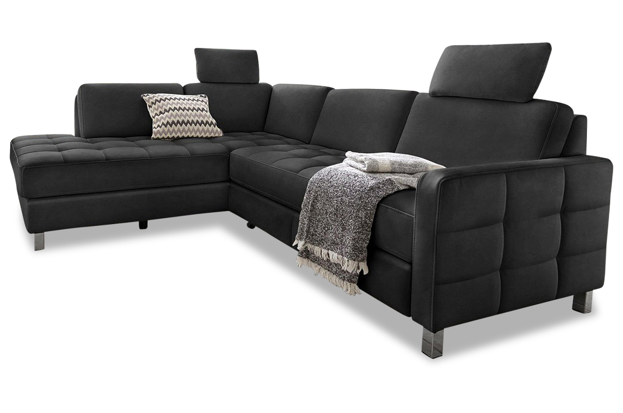 ecksofa schwarz sofas zum halben preis. Black Bedroom Furniture Sets. Home Design Ideas