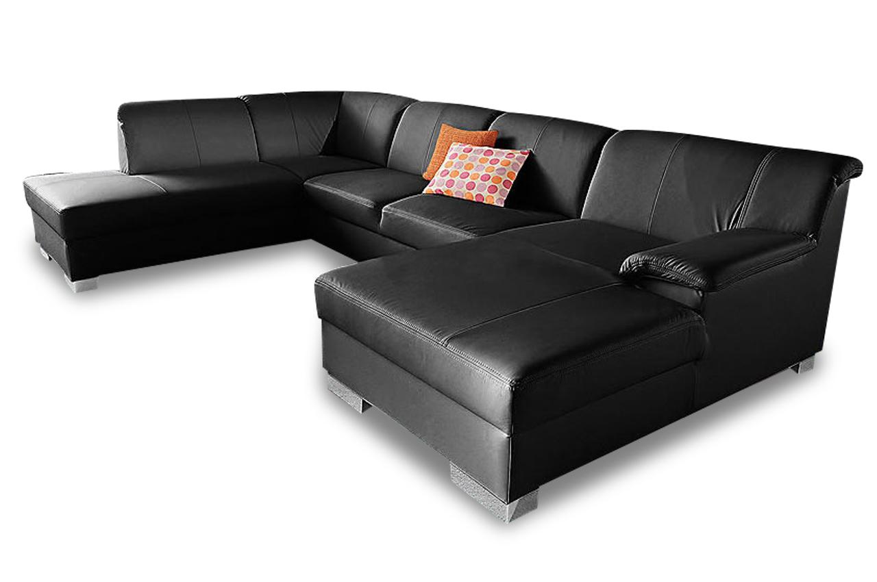 Leder wohnlandschaft lino schwarz sofas zum halben preis for Leder wohnlandschaft schwarz