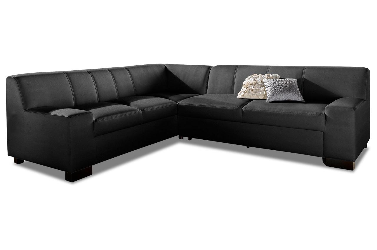 ecksofa xl norma mit schlaffunktion schwarz sofas zum halben preis. Black Bedroom Furniture Sets. Home Design Ideas