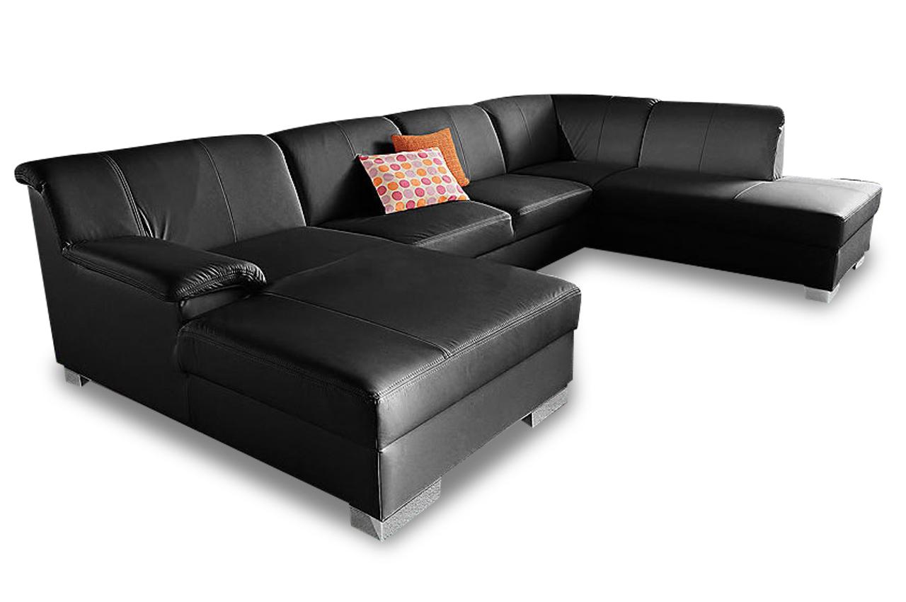 leder wohnlandschaft lino schwarz sofas zum halben preis. Black Bedroom Furniture Sets. Home Design Ideas
