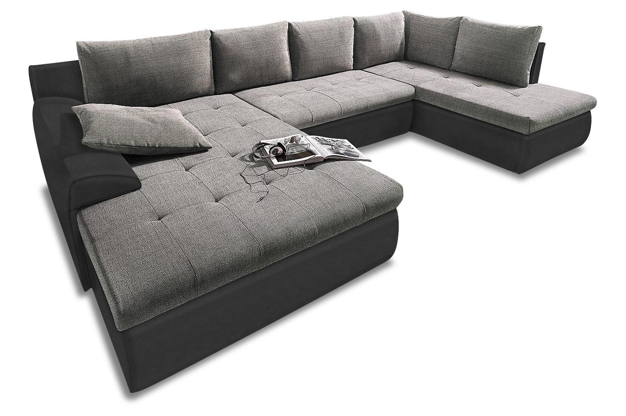 wohnlandschaft cecile xxl mit schlaffunktion anthrazit. Black Bedroom Furniture Sets. Home Design Ideas