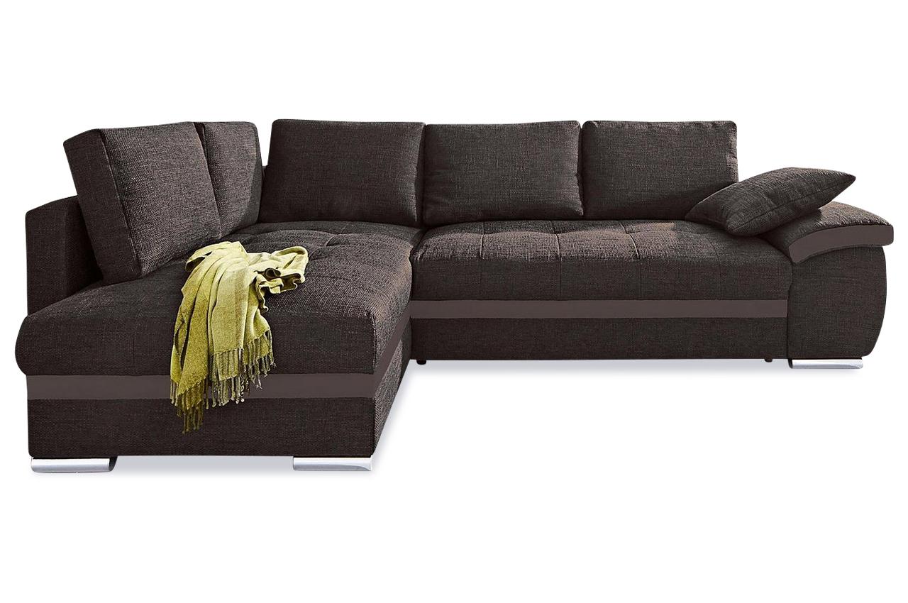 Ecksofa xl crespo mit schlaffunktion braun sofas zum for Ecksofa xl nikita