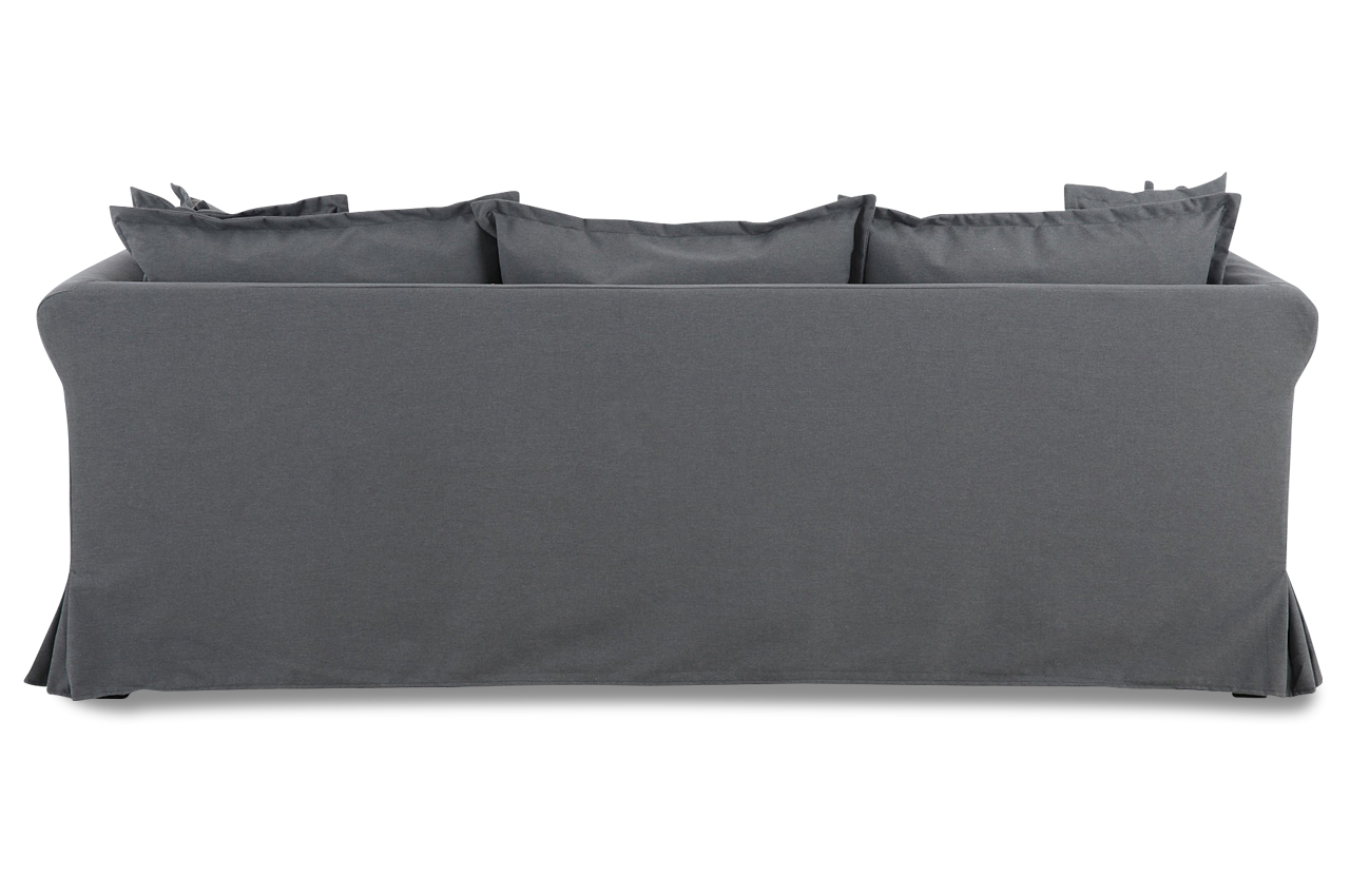 stolmar 3er sofa luisa grau sofas zum halben preis. Black Bedroom Furniture Sets. Home Design Ideas