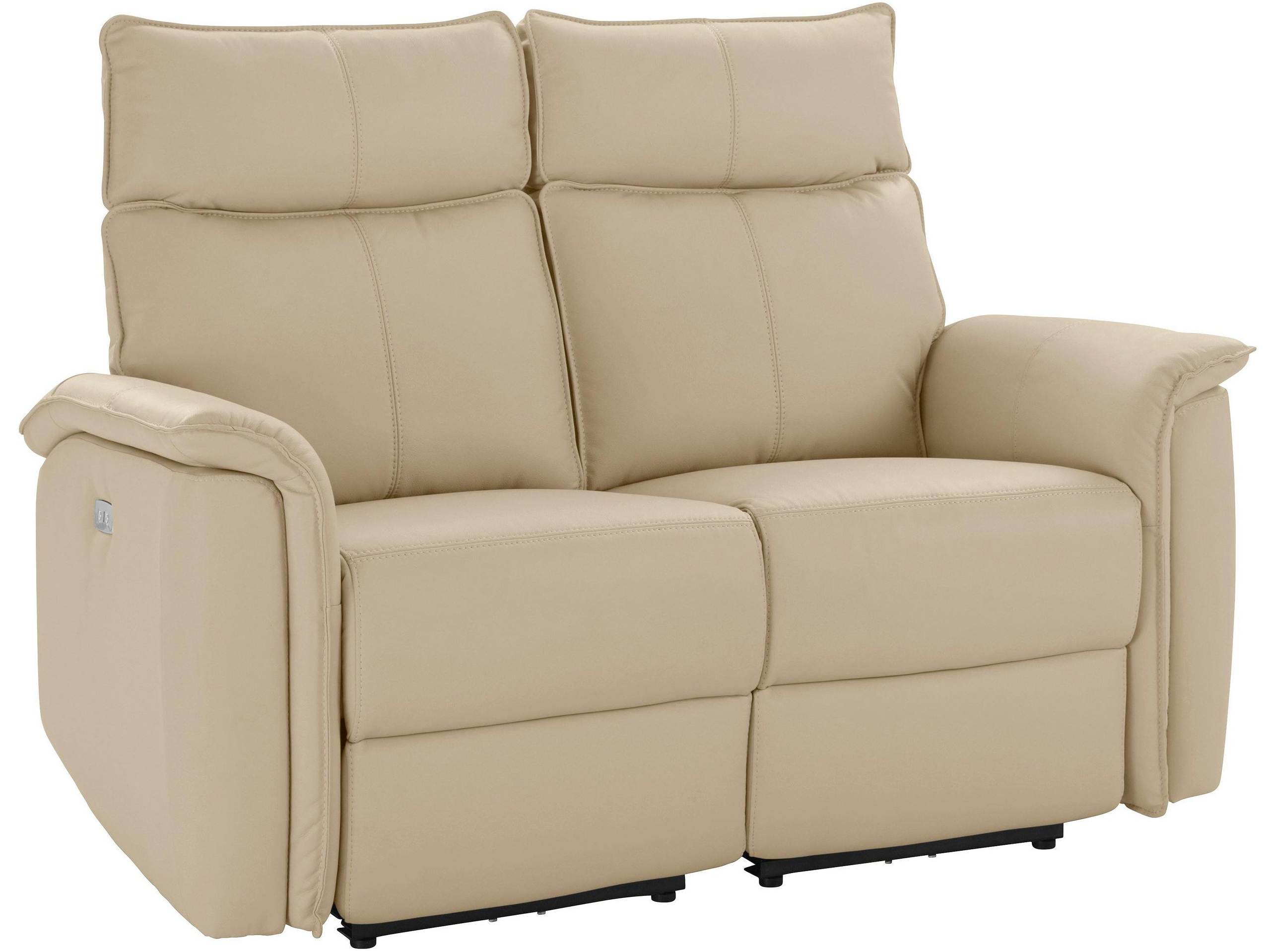 Leder Einzelsofa - Beige   Sofas zum halben Preis