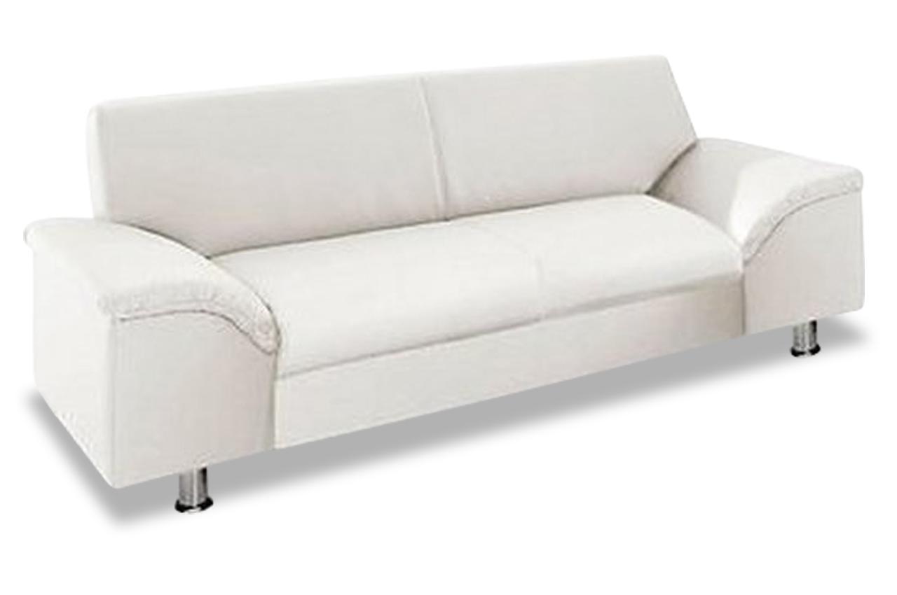 3er sofa lesmona weiss sofas zum halben preis. Black Bedroom Furniture Sets. Home Design Ideas