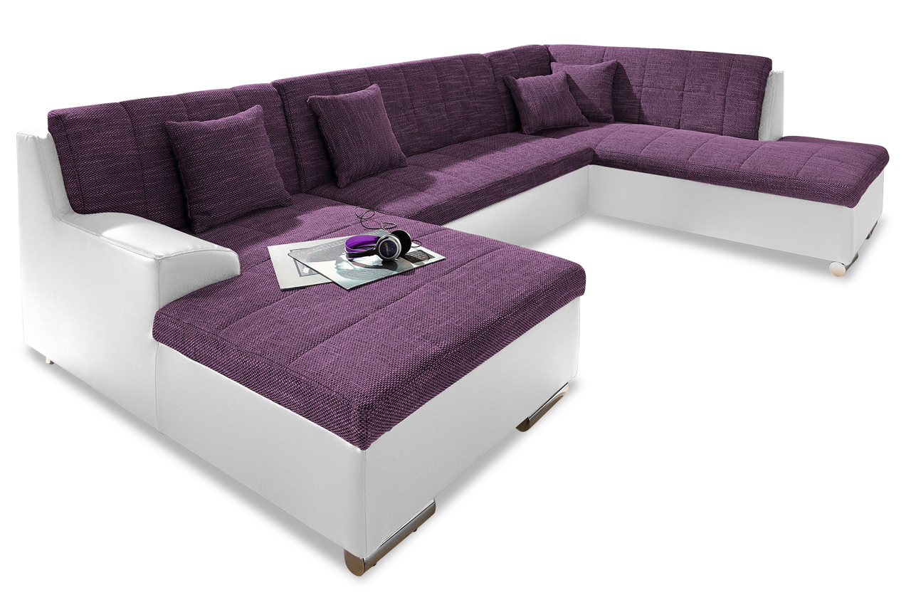 wohnlandschaft jump mit schlaffunktion violette sofa. Black Bedroom Furniture Sets. Home Design Ideas