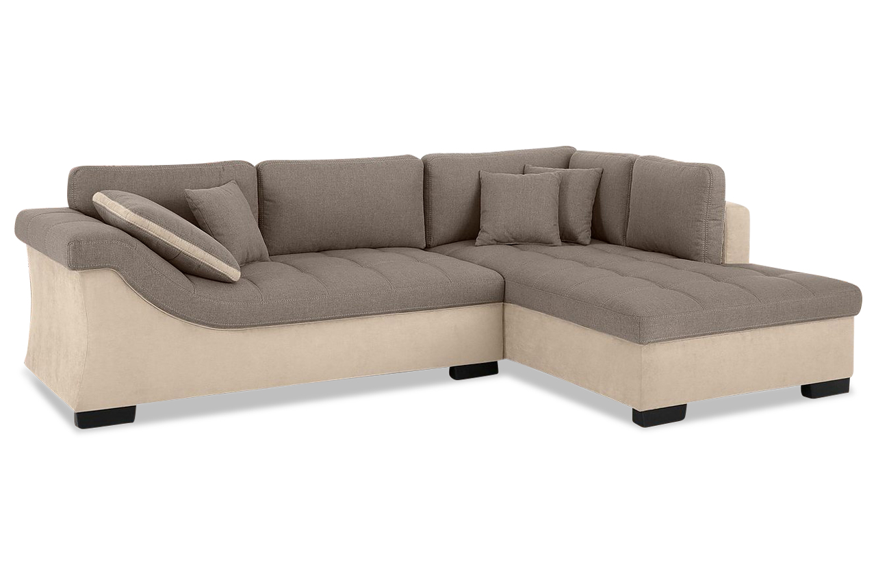 nova via ecksofa barbados creme sofa couch ecksofa ebay. Black Bedroom Furniture Sets. Home Design Ideas