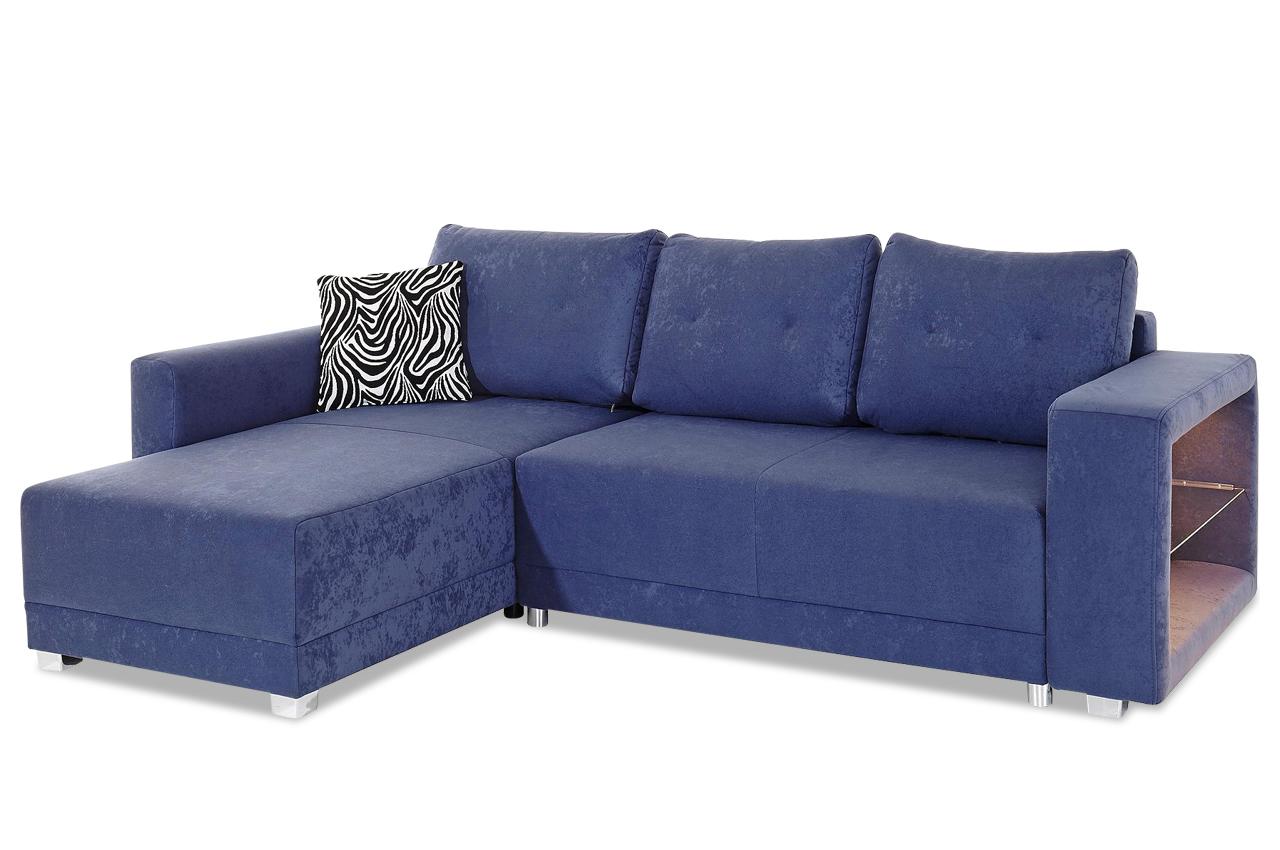 ecksofa mit led und schlaffunktion blau sofas zum halben preis. Black Bedroom Furniture Sets. Home Design Ideas