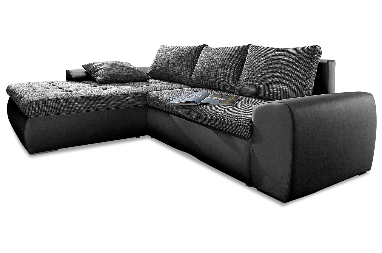 ecksofa cecile xl mit schlaffunktion schwarz sofas zum halben preis. Black Bedroom Furniture Sets. Home Design Ideas