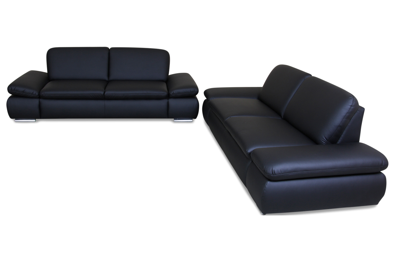 garnitur 3 2 schwarz mit federkern sofas zum halben preis. Black Bedroom Furniture Sets. Home Design Ideas