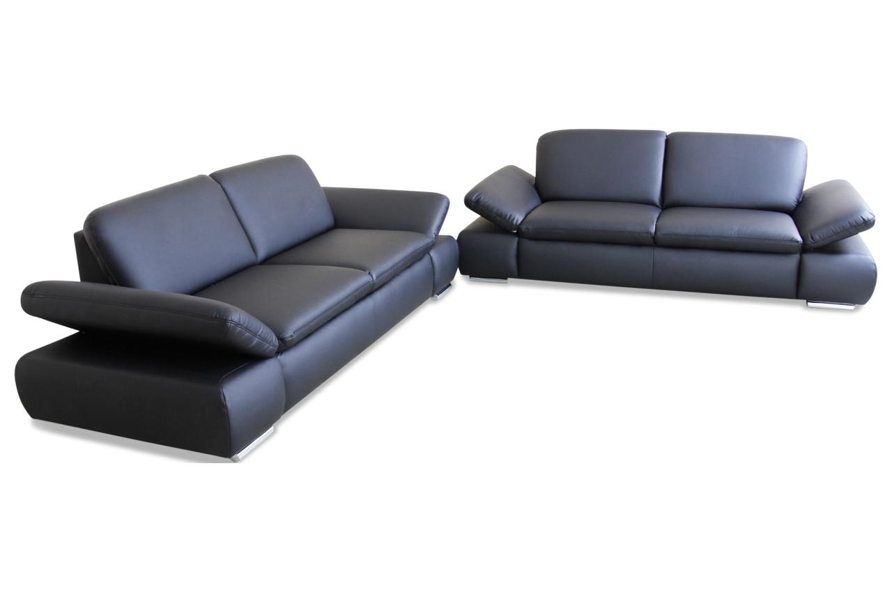 garnitur 3 2 schwarz mit federkern sofas zum halben preis. Black Bedroom Furniture Sets. Home Design Ideas