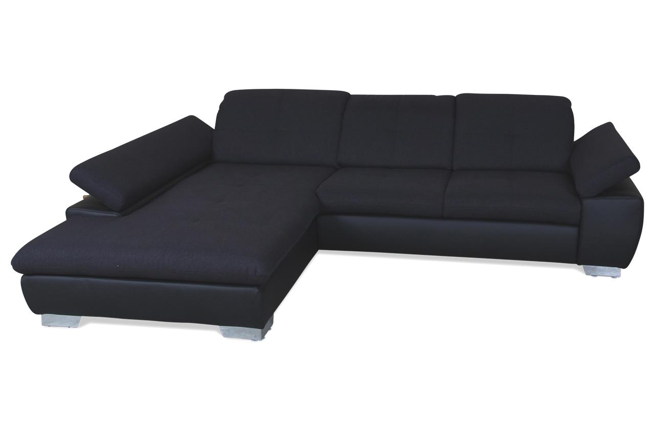 Ada alina ecksofa 7695 schwarz mit federkern sofas zum for Wohnlandschaft 7695