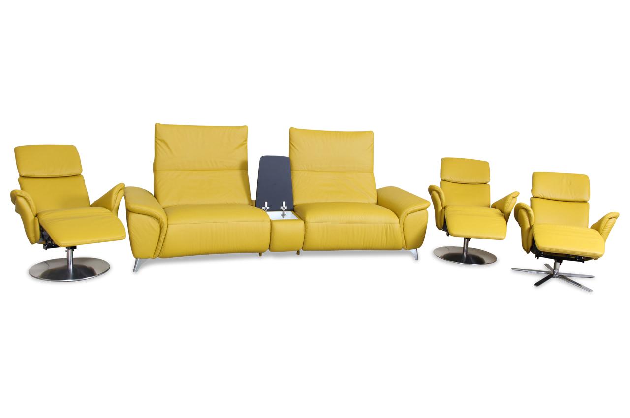 leder garnitur 3 2 1 mit relax gruen sofas zum halben preis. Black Bedroom Furniture Sets. Home Design Ideas
