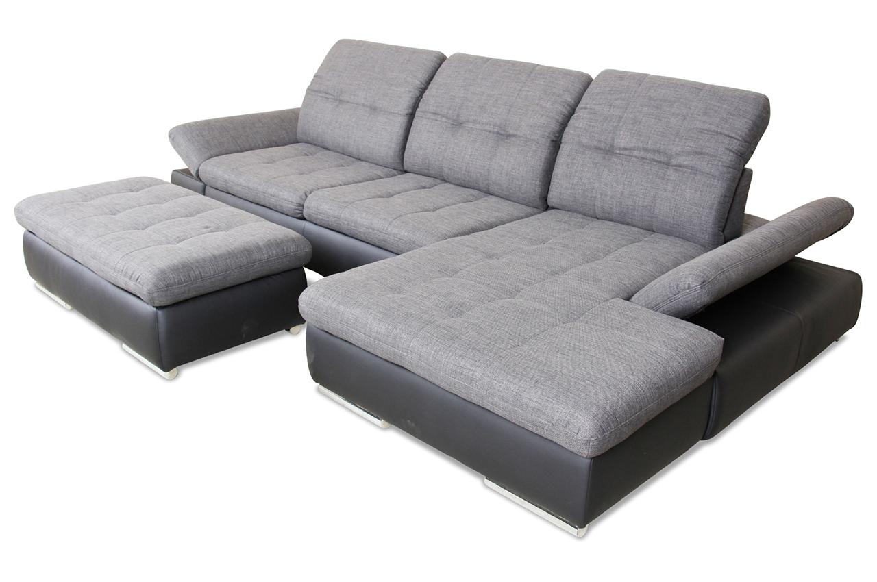 ecksofa anthrazit mit federkern sofas zum halben preis. Black Bedroom Furniture Sets. Home Design Ideas