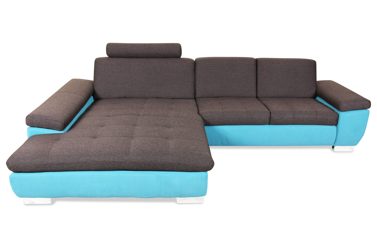 Lounge ecksofa  ADA Alina Ecksofa Rocket Lounge - Braun mit Federkern | Sofas zum ...