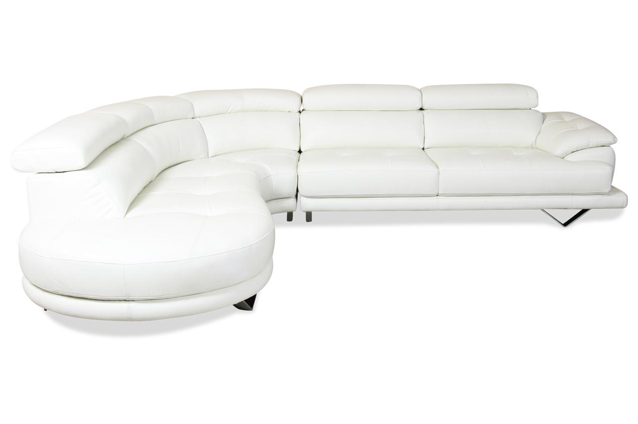 htl international leder ecksofa xl 3177 weiss mit federkern sofas zum halben preis. Black Bedroom Furniture Sets. Home Design Ideas