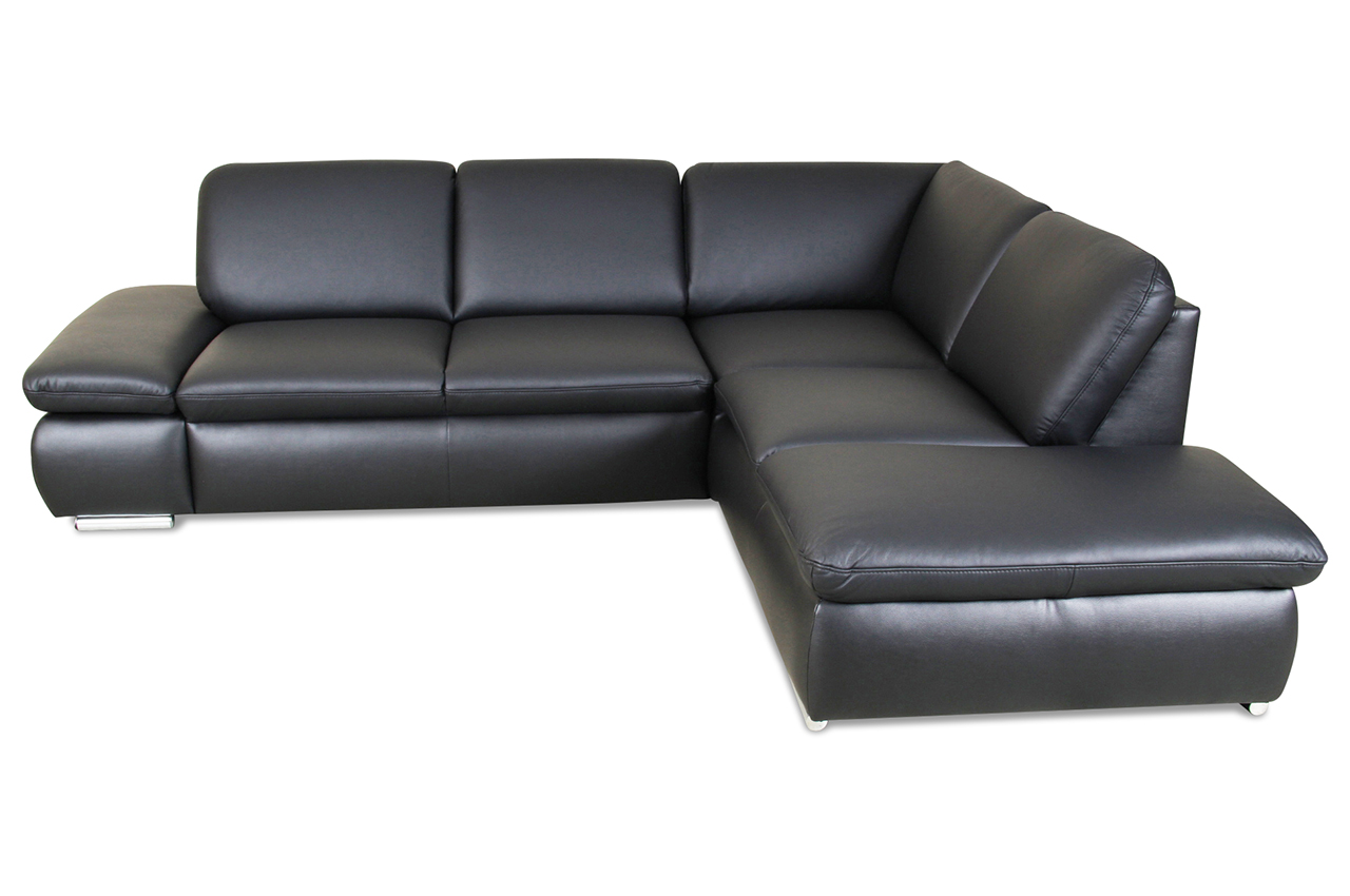 leder ecksofa xl schwarz mit federkern sofas zum. Black Bedroom Furniture Sets. Home Design Ideas