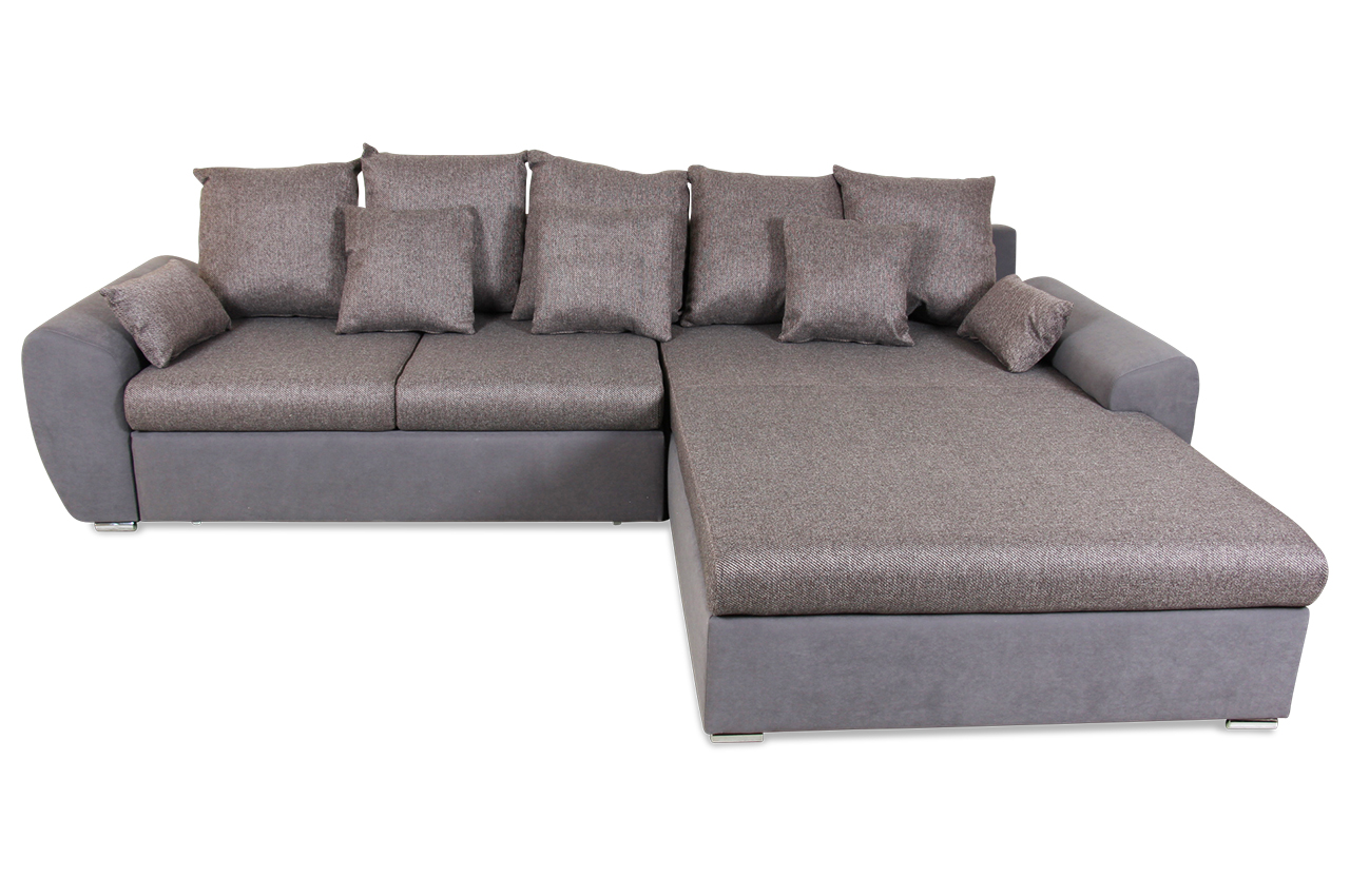 ecksofa prime mit schlaffunktion braun mit federkern. Black Bedroom Furniture Sets. Home Design Ideas