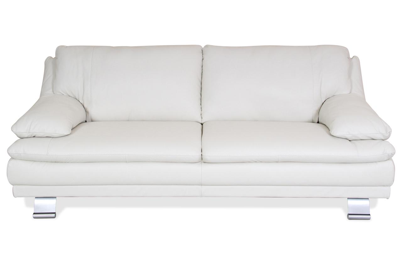 editions leder 3er sofa u118 creme mit boxspring sofas zum halben preis. Black Bedroom Furniture Sets. Home Design Ideas