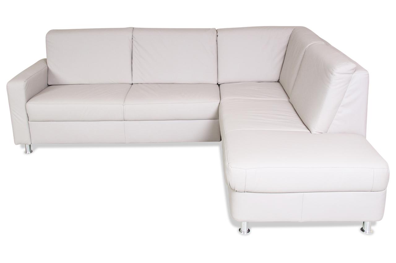 ada alina leder ecksofa 7406 creme mit federkern sofa. Black Bedroom Furniture Sets. Home Design Ideas