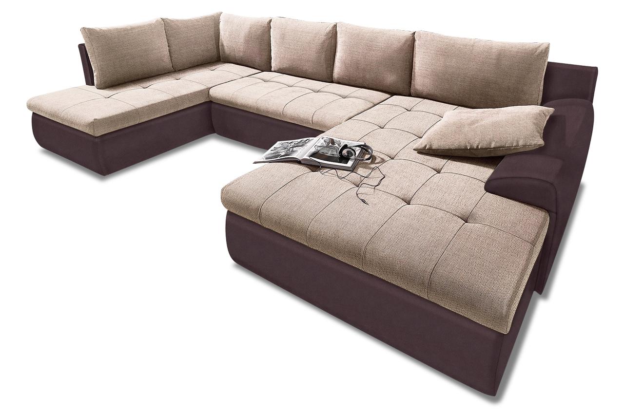 wohnlandschaft cecile xxl mit schlaffunktion braun sofas zum halben preis. Black Bedroom Furniture Sets. Home Design Ideas