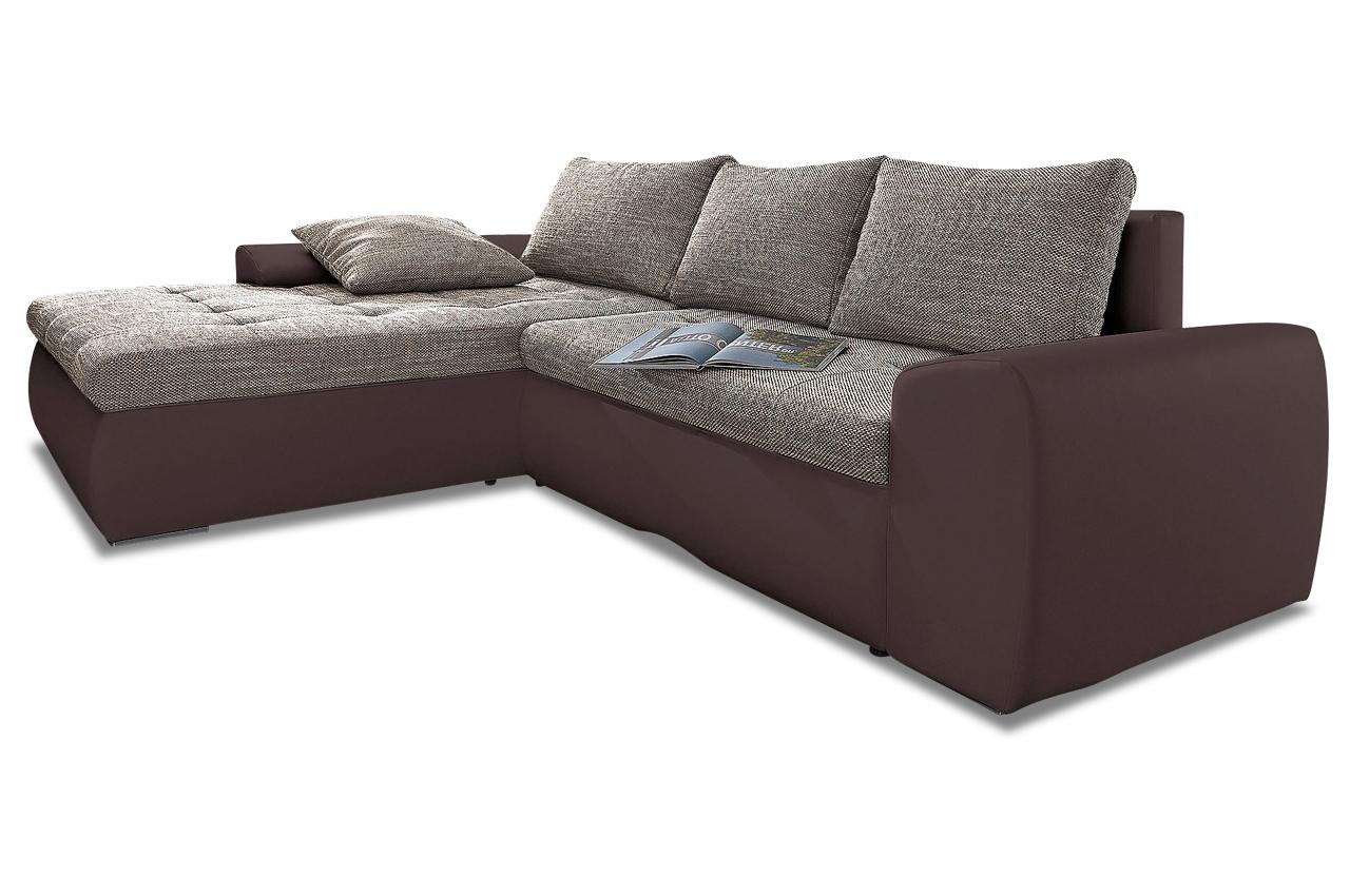 ecksofa cecile xxl mit schlaffunktion braun sofas zum halben preis. Black Bedroom Furniture Sets. Home Design Ideas