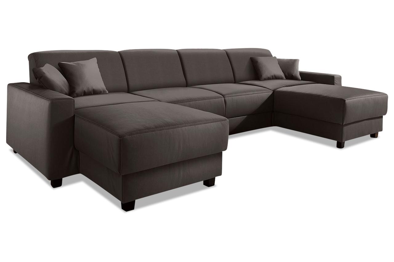 domo collection wohnlandschaft maarten braun mit boxspring sofa couch eckso ebay. Black Bedroom Furniture Sets. Home Design Ideas