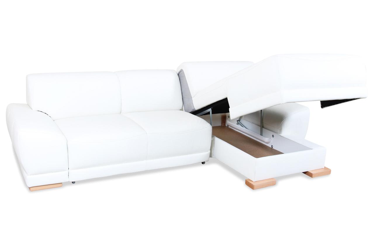 leder ecksofa mit schlaffunktion creme mit federkern. Black Bedroom Furniture Sets. Home Design Ideas