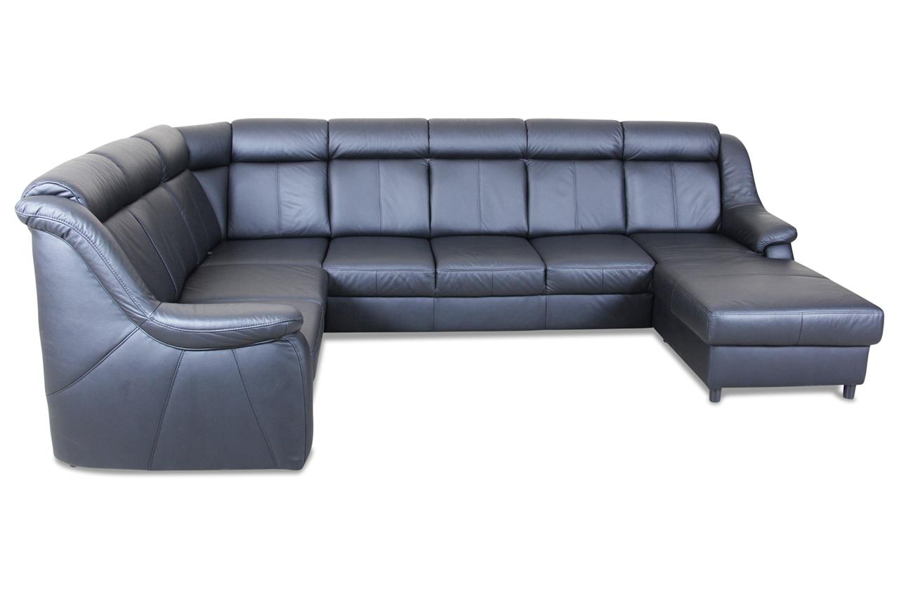leder wohnlandschaft schwarz mit federkern sofas zum. Black Bedroom Furniture Sets. Home Design Ideas