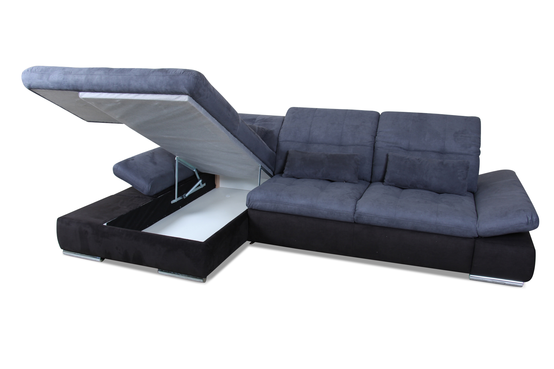 ecksofa mit schlaffunktion blau mit federkern sofas. Black Bedroom Furniture Sets. Home Design Ideas