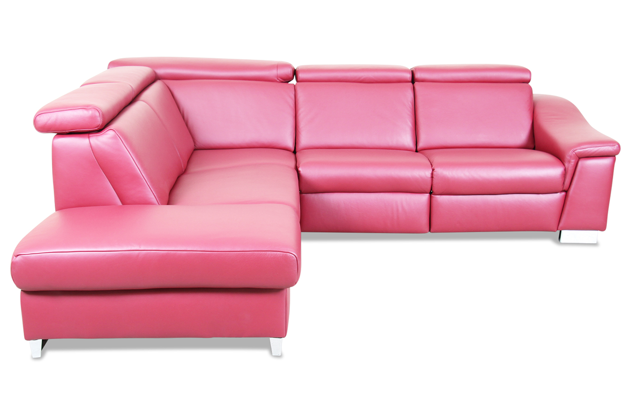 Ada alina leder ecksofa xl 7520 rot sofas zum halben preis for Wohnlandschaft 7520