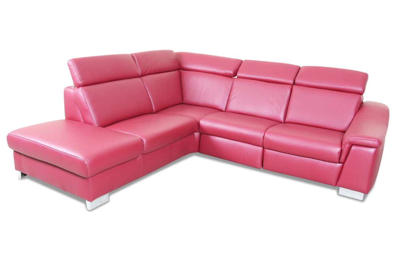 ada alina leder ecksofa xl 7520 rot sofas zum halben preis. Black Bedroom Furniture Sets. Home Design Ideas