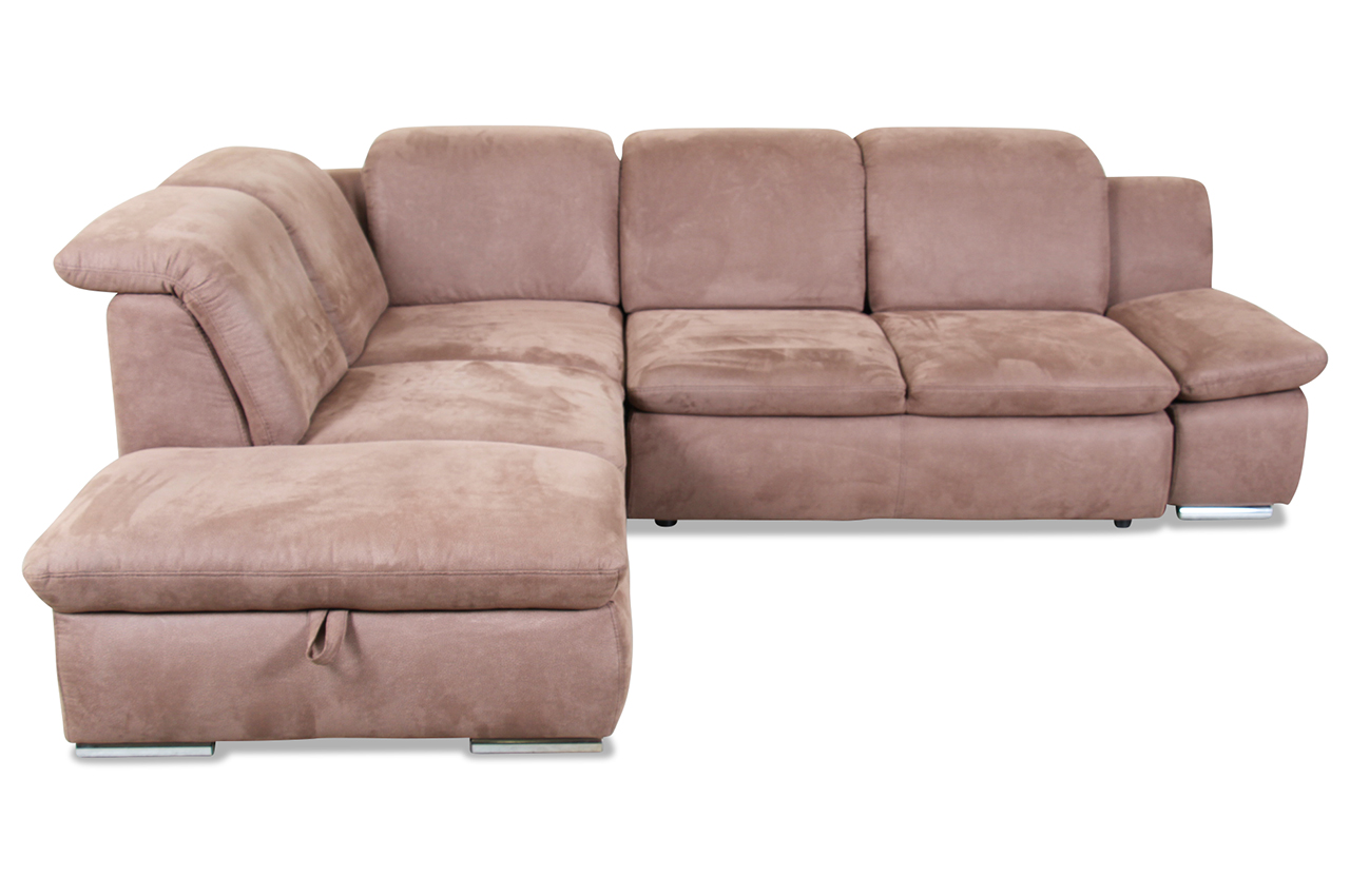 ecksofa xl mit schlaffunktion braun mit federkern sofas zum halben preis. Black Bedroom Furniture Sets. Home Design Ideas