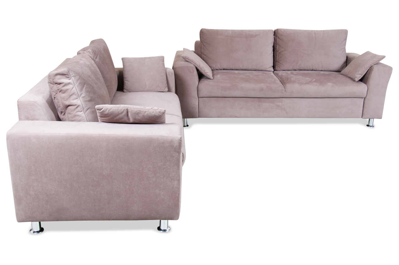 Sofa team garnitur 3 2 156 braun mit federkern sofa for Sofa garnitur