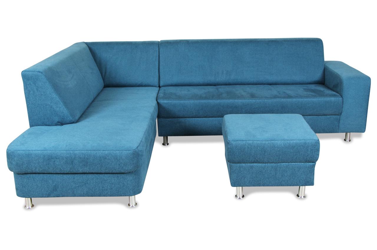 Ada alina ecksofa xl 7420 mit hocker blau sofas zum for Wohnlandschaft 7420