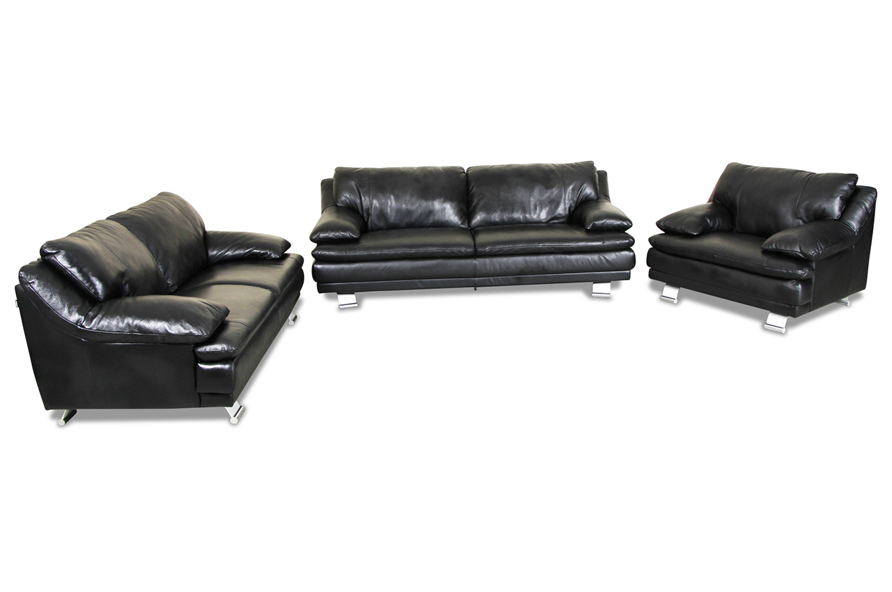 couchgarnitur leder 3 2 1 3 2 1 sofagarnitur couchgarnitur loungesofa lille leder schwarz. Black Bedroom Furniture Sets. Home Design Ideas