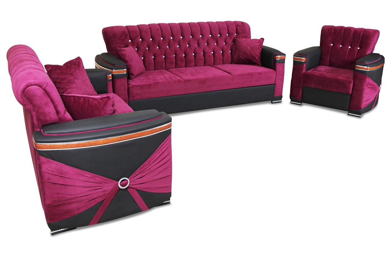 furntrade garnitur 3 2 1 falco soho mit schlaffunktion schwarz sofas zum halben preis. Black Bedroom Furniture Sets. Home Design Ideas