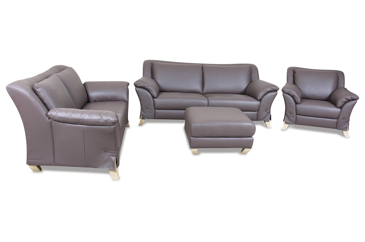 editions leder garnitur 3 2 1 u238 braun sofas zum halben preis. Black Bedroom Furniture Sets. Home Design Ideas